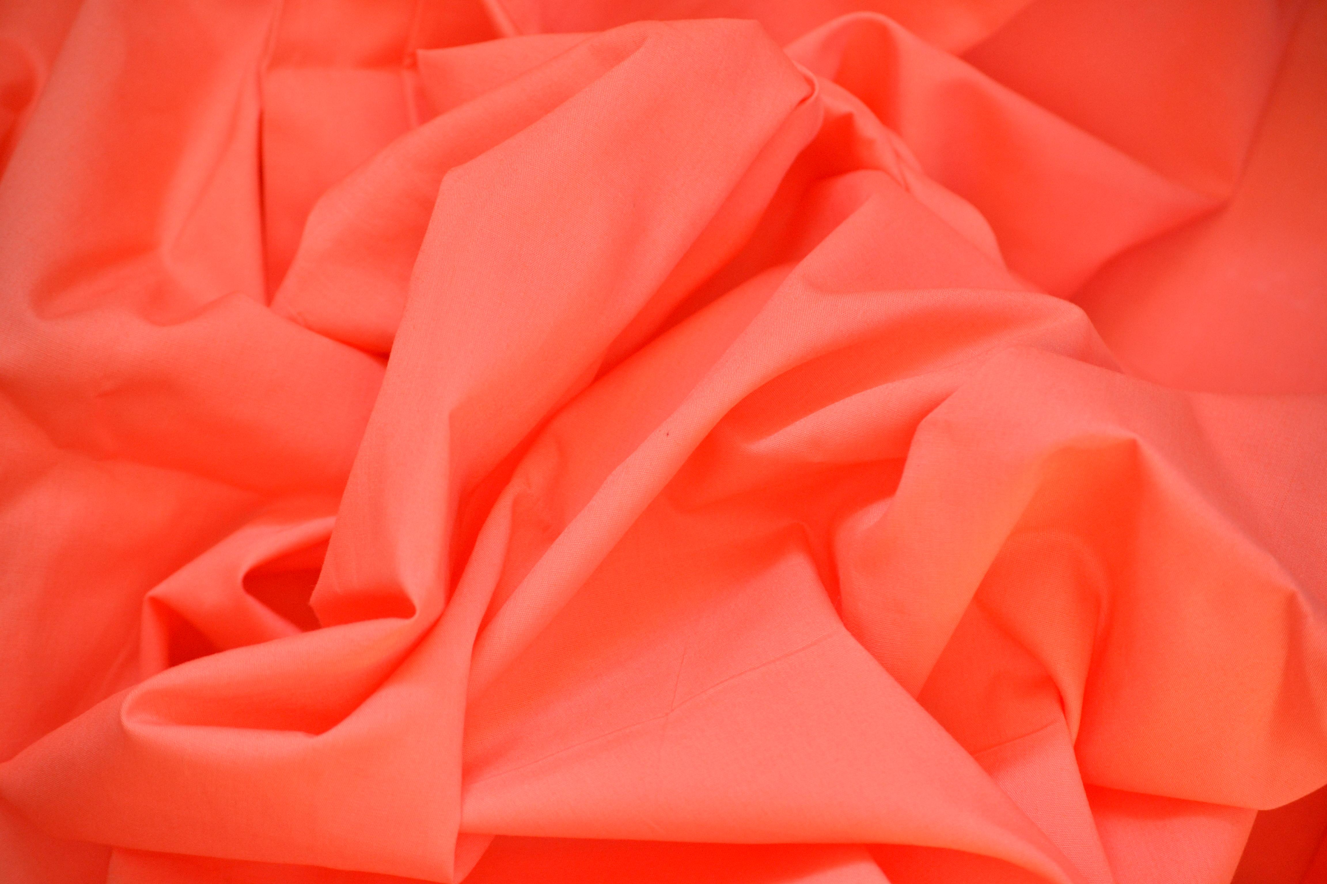 Satin de coton corail